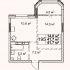 однокомнатная квартира в новостройке на в границах улиц Максима Горького, Ильинской, Новой
