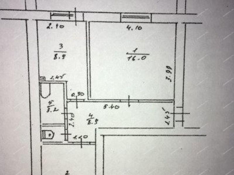 двухкомнатная квартира на  рабочий посёлок Пильна