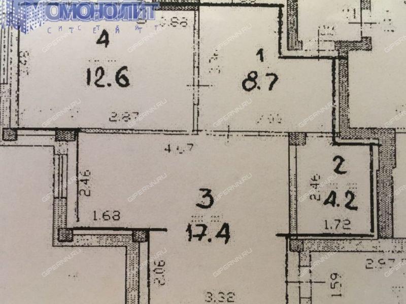 однокомнатная квартира на проспекте Капитана Рачкова дом 17 город Кстово